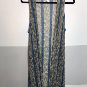 Knit duster vest